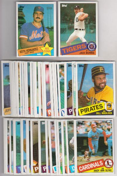 50 Different 1985 Topps Baseball Cards Jack Morris Keith