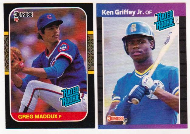 Rookies Ken Griffey Jr 1989 Donruss Greg Maddux 1987