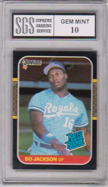 Graded Gem Mint 10 Rookie Bo Jackson 1987 Donruss 35 Card