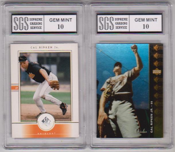 2 Different Graded Gem Mint 10 Cal Ripken Jr Cards 1994