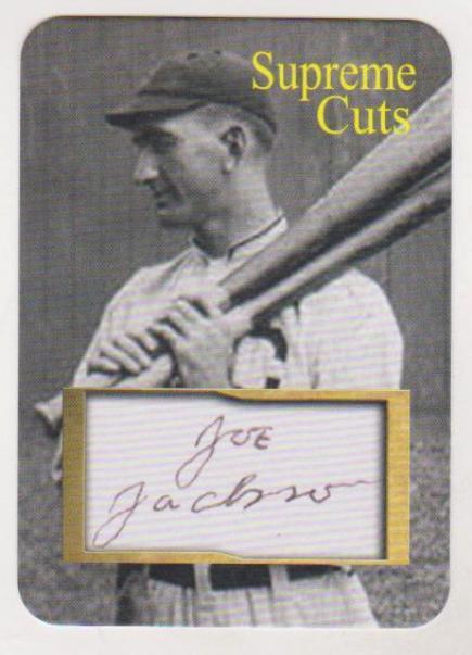1250 Produced Shoeless Joe Jackson Facsimile Autograph