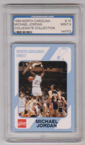 Graded Mint 9 Michael Jordan 1989 North Carolina 15
