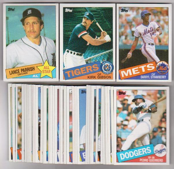 50 Different 1985 Topps Baseball Cards Darryl Strawberry