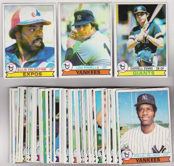 50 Different 1979 Topps Baseball Cards Darrell Evans More