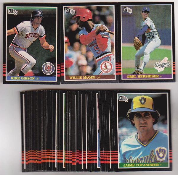 50 Different 1985 Donruss Baseball Cards Orel Hershiser