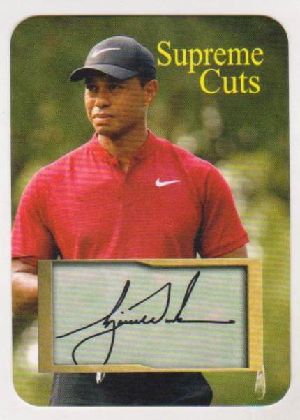cf5225955e2 2 50 Produced - Tiger Woods Facsimile Autograph Supreme Cuts Die Cut ...