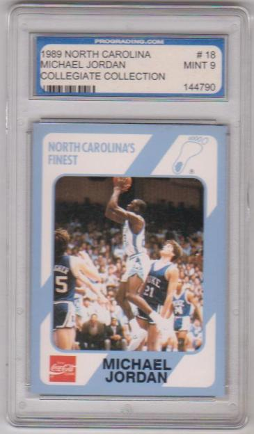 Graded Mint 9 Michael Jordan 1989 North Carolina 18