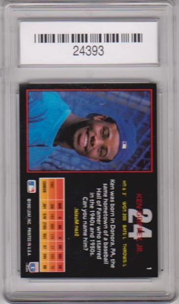 44bd3d2b0b Graded Gem Mint 10 - Ken Griffey, Jr. 1993 Triple Play #1 Card ...