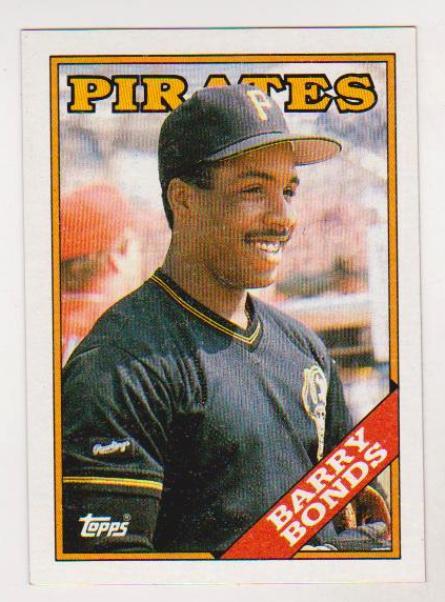 Error Card Barry Bonds 1988 Topps Wrong Back Rare Card