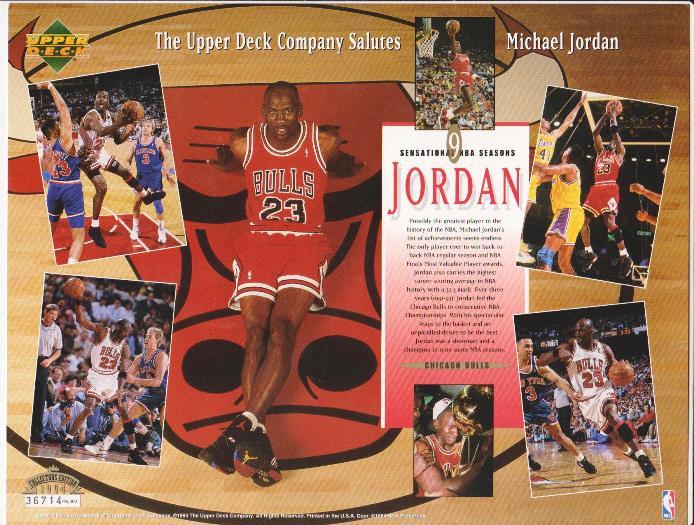 7dc95f52665 Michael Jordan Upper Deck Salutes 8.5