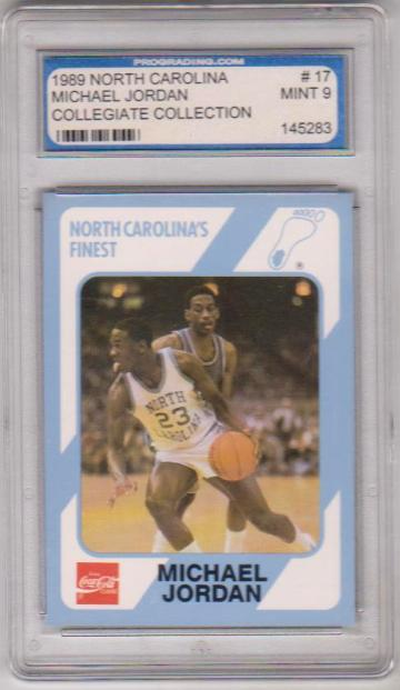 Graded Mint 9 Michael Jordan 1989 North Carolina 17