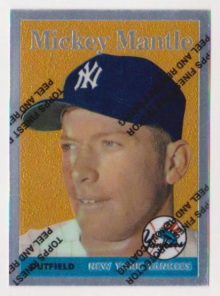 Mickey Mantle 1958 Topps Finest 150 Commemorative Card 1996 Topps