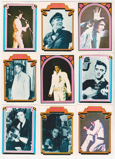 Vintage 1978 Elvis Presley Trading Cards 9 Different Property Room