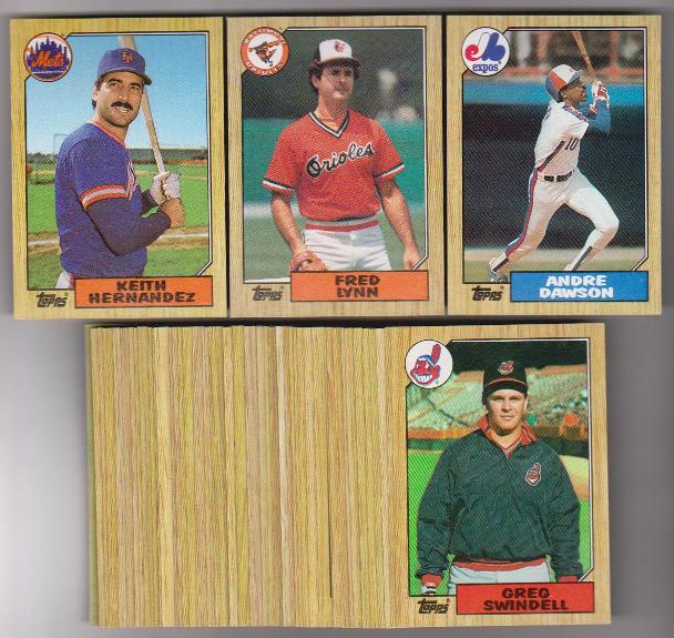 50 Different 1987 Topps Baseball Cards - Andre Dawson, Fred Lynn +