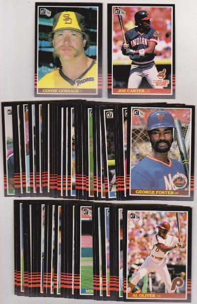 50 Different 1985 Donruss Baseball Cards Joe Carter