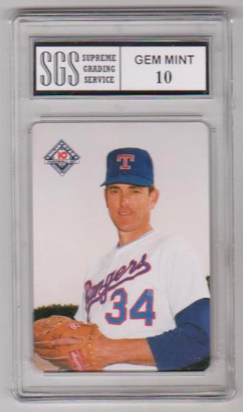 Graded Gem Mint 10 Nolan Ryan 1994 Mothers Cookies 6 Of 10 Card