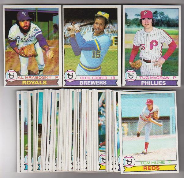 50 Different 1979 Topps Baseball Cards Tug Mcgraw More Vintage