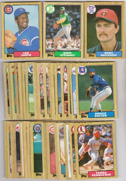 50 Different 1987 Topps Baseball Cards Lee Smith Dave Stewart