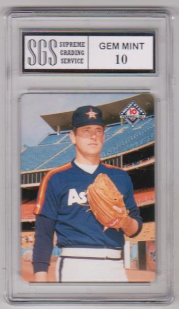 Graded Gem Mint 10 Nolan Ryan 1994 Mothers Cookies 4 Of 10 Card