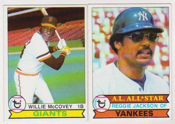 1979 Topps Reggie Jackson 700 Willie Mccovey 215 Card Pair