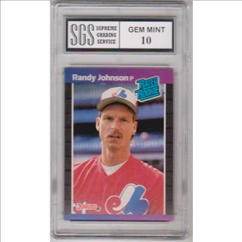 Rookie Graded Gem Mint 10 Randy Johnson 1989 Donruss 42