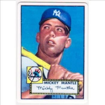 1952 Topps Mickey Mantle Porcelain Rookie Replica Card