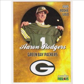 2005 Rookie Phenoms Aaron Rodgers Rookie Gold Custom Card