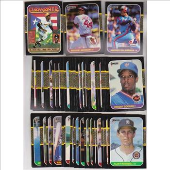 185 Assorted 1987 Donruss Baseball Cards Roberto Clemente