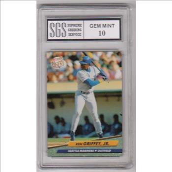 d845e4ebf5 Graded Gem Mint 10 - Ken Griffey, Jr. 1992 Fleer Ultra #123 Card ...