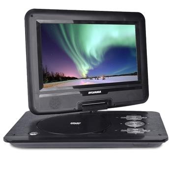 """10.1"""" Sylvania 180-degree Swivel Widescreen Portable DVD Player"""