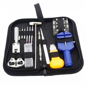 14pc Watch Repair Tool Kit w/ Zippered Case