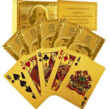 24K Gold Foil Plated Playing Cards