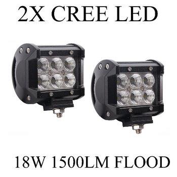 2-Pack 1500LM 18W 6 x 3W Cree LEDs Work Light