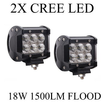 2-Pack 1500LM 18W 6 x 3W Cree LEDs Work Light