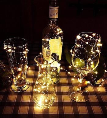 (2X) Cork LED Light String