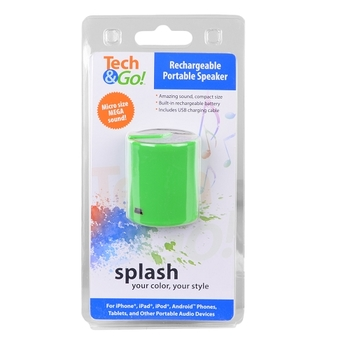 (2X) Tech & Go Splash Rechargeable Portable Speaker