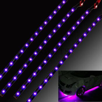 4pcs 15 LED Waterproof Vehicle Strip Light (Red)