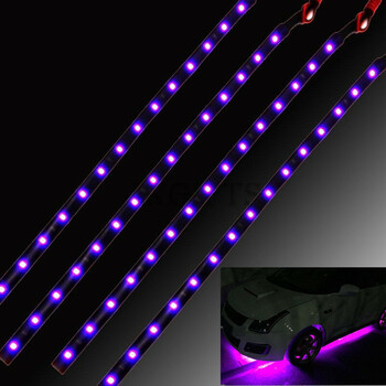 4pcs 15 LED Waterproof Vehicle Strip Light (Red)