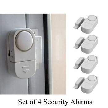 4x Wireless Home Security Alarms