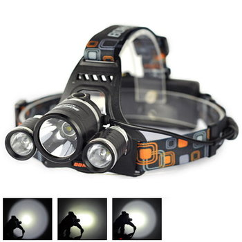 5000 Lumen 3X Cree LED Torch Headlamp