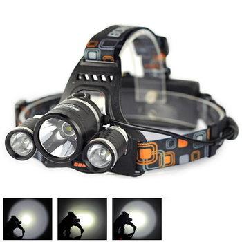 5000 Lumen 3X Cree LED Torch Headlamp