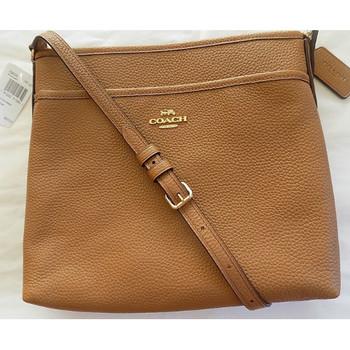Coach Pebbled Leather Crossbody File Bag