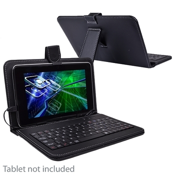 """7"""" Tablet Case & Keyboard w/Stand"""