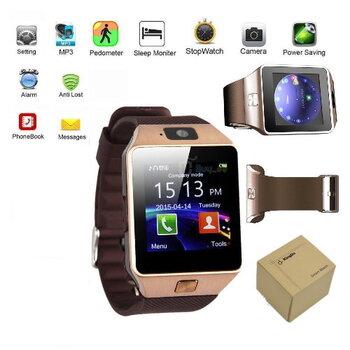 Bluetooth Wrist Phone Smartwatch - Gold