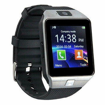 Bluetooth Wrist Phone Smartwatch - Silver