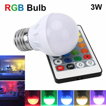 Color-Changing Light Bulb w/Wireless Remote Control