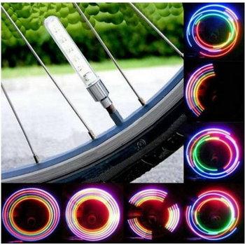 Colorful 2pcs 5LEDs Bike Tire Valve Light