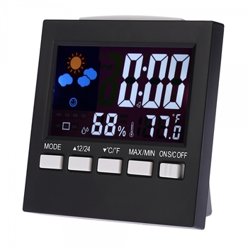 Digital LCD Thermometer & Hydrometer Alarm Clock