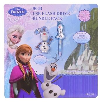 Disney Frozen Olaf 8GB USB Flash Drive & 2-in-1 8GB Pen Drive Bundle (16GB Total)