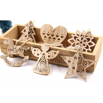 Hollow Wooden Ornament 12-Pack